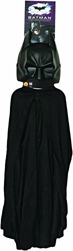 Batman Black Mask Mask For Sale (Batman: The Dark Knight Rises: Batman Cape and Mask Set, Child Size (Black))