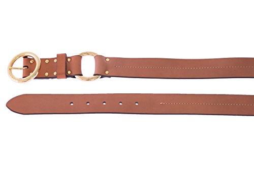 Armani Jeans Women's Leather Belt I (76cm) Chestnut