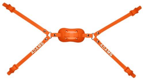 Adams USA 100-4D 4-Point High Hook Up Football Chinstrap, Orange