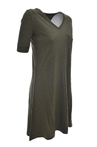 By Penn rich Verde Manica Scuro Vestito Donna Mezza Wyabi0029 Woolrich Lungo Jersey 4pBTwqpO
