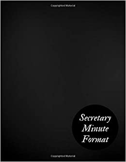 secretary minute format meeting minutes notebook secretary
