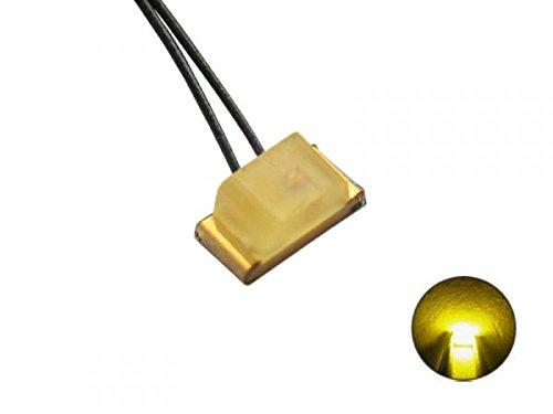 SMD LED 0603 mit Kupferlackdraht gelb diffus modellbahn-exklusiv 5427