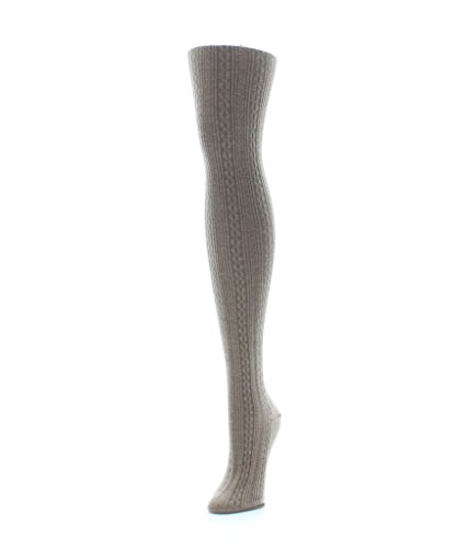 MeMoi Textured Sweater Cable Tights