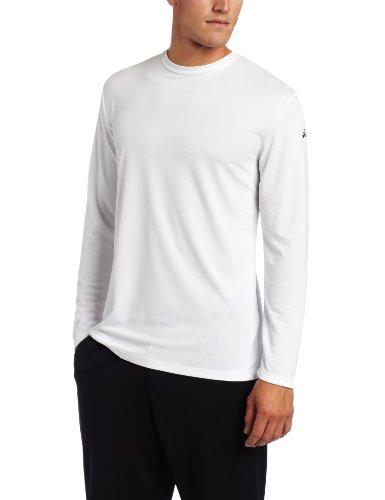 ASICS Men's Ready Set Long Sleeve Top,White,Large