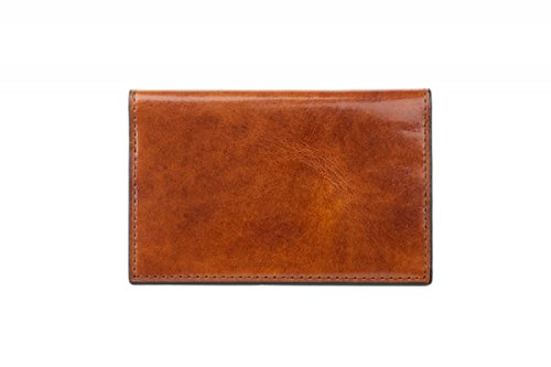 Bosca Men's Old Leather Calling Card Case (Amber) - Amber Wallet