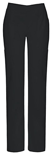 Flare Petite Uniform (Dickies Women's Petite EDS Signature Stretch Moderate Flare Leg Pull-On Pant, Black, Small)