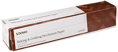 Amazon Brand – Solimo Baking Paper & Cooking Parchment Paper (20 m)