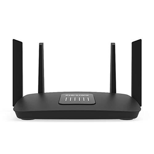 QUARKJK WiFi Range Extender, señal Booster 4 Antenas externas 2.4 GHz Velocidad rápida 1200Mbs Wi-Fi repetidor a través...