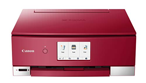 Canon PIXMA TS8320 Inkjet Wireless Color Printer All In One, Copier, Scanner, Red
