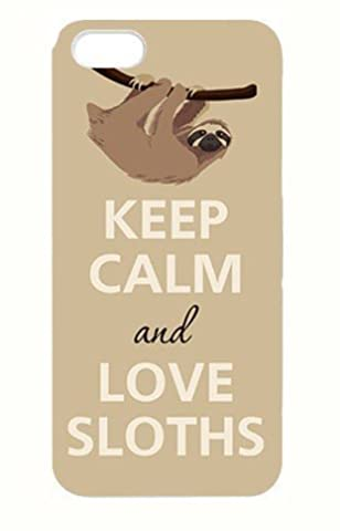 @ALLCASE iPod touch 5 Case ,Funny Keep calm and Love Sloths Best Plastic Protective Case for iPod touch 5 - (One Direction Ipod 5 Custom Case)