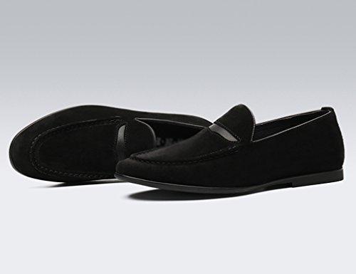 HWF Scarpe Uomo in Pelle Scarpe casual da uomo in pelle color nubuck smerigliato da uomo primavera scarpe casual da uomo stile marea (Colore : Nero, dimensioni : EU 41/UK7) Nero
