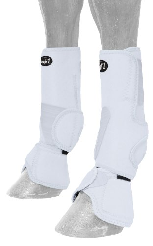 (Tough 1 Performers 1st Choice Combo Boots, White, Medium)