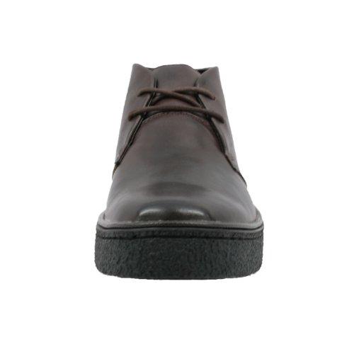 De Oprindelige Britiske Vandrere Mænds Playboy Høj Top Chukka Støvle Mørkebrun Læder 5jfcAlkNOB