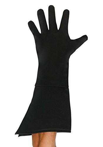 Super Hero Gloves (Adult Black Superhero Gloves Standard)