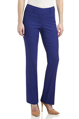 (Rekucci Women's Ease in to Comfort Fit Barely Bootcut Stretch Pants (18,Sapphire))