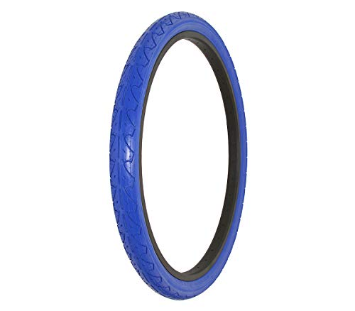 Slick Tires Bicycle (Alta Bicycle Tire Duro 26 x 1.95 Color Bike Tire Slick City Style Pattern (Blue))