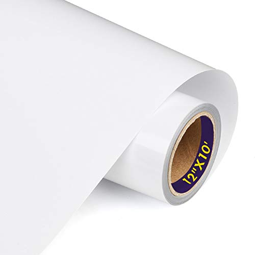 TransWonder Premium Heat Transfer Vinyl HTV Rolls for T-Shirts 12in.x10ft, Iron on HTV Vinyl Compatible with Silhouette Cameo & Cricut