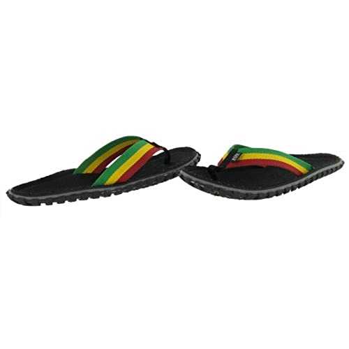 765b5f1d3cd0 70%OFF Bob Marley Fresco Men s Flip Flops Sandals Rasta Print Size 9 ...