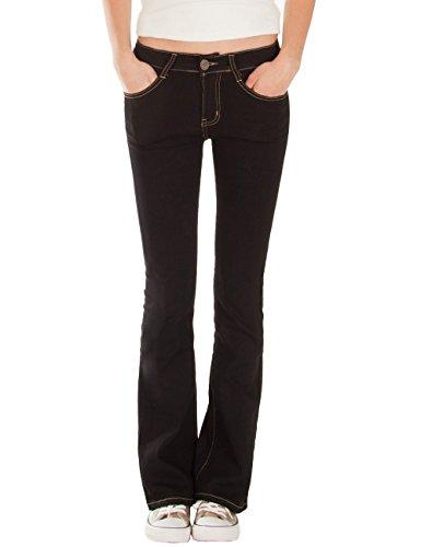 Fraternel Pantalones Vaqueros mujer corte bota boot-cut Negro