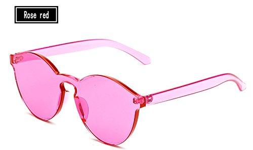 Amarillo Sunglasses Gafas Vintage Mujer Sol rose TL del de de Gafas Color Hombre Caramelos Gafas de Mujer Sol red aIZdz