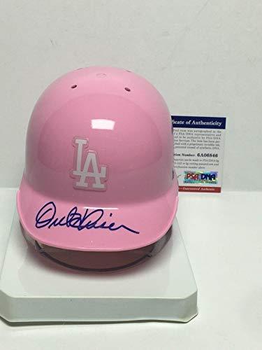 Autographed Mlb Mini Helmets - Orel Hershiser Signed Pink Los Angeles Dodgers Baseball Mini-Helmet 6A06846 - PSA/DNA Certified - Autographed MLB Mini Helmets