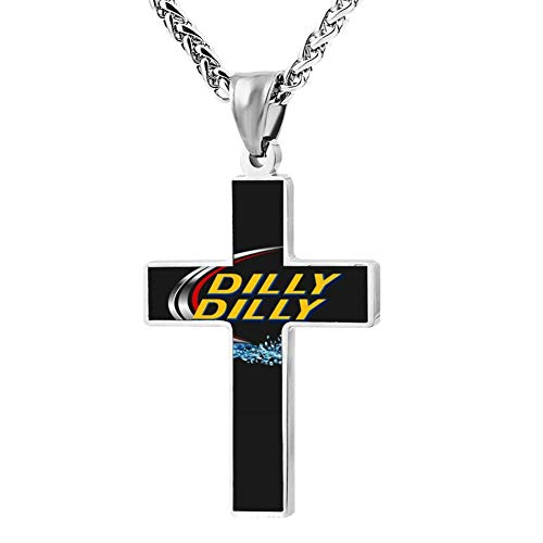 (OMKS Dilly Yellow Zinc Alloy Chain Cross Pendant Necklace Christian Religious Jewelry for Men/Women )