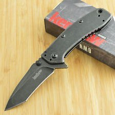 Cryo-II-Assisted-Blackwash-Handle-Blade-Tanto-Self-Defense-Weapon-Ultimate-Survival-Tool-for-Zombie-Apocalypse-Survival-Kit-w-Free-5-in-1-Carabiner-Multitool-Credit-Card-Knife-Survival-Life