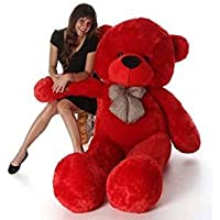 Hug 'n' Feel Soft Toys Extra Large Very Soft Lovable/Huggable Teddy Bear for Girlfriend/Birthday Gift/Boy/Girl RED 3 feet (91 cm)