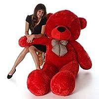 CLICK4DEAL Soft 4 Feet Long Huge Red Teddy Bear(Best ) 122Cm