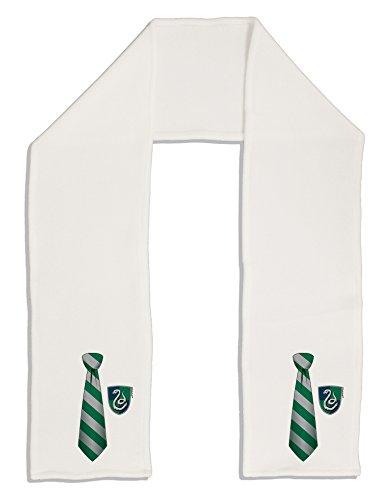 Fleece Tie Scarf (TooLoud Wizard Tie Green and Silver Adult Fleece 64