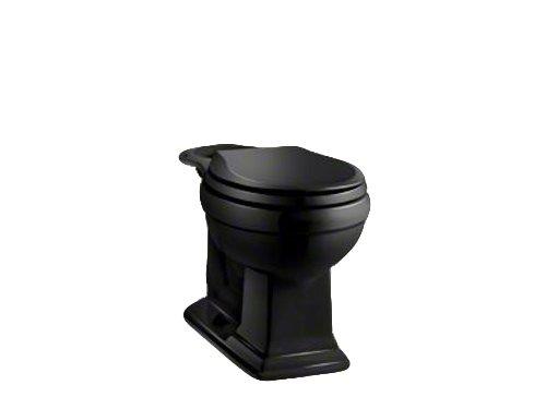 Kohler K-4387-7 Memoirs Comfort Height Round Front Toilet Bowl, Black