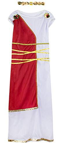 COSLAND Girls Greek Goddess Costume Carnival Cosplay (Goddess, Large) ()