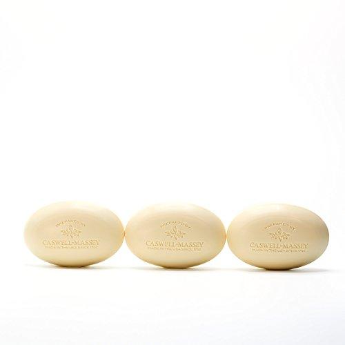 Caswell-Massey Triple Milled Luxury Bath Soap Set - Almond & Aloe Fragrance - 5.8 Ounces Each, 3 (Triple Milled Soap Bar)
