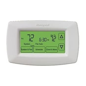 honeywell inc th7220u1035 7 day touchscreen programmable rh amazon com Honeywell Programmable Thermostat User Manual Honeywell Programmable Thermostat User Manual