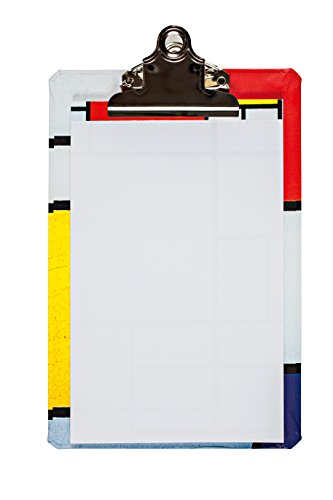 """Price comparison product image Piet Mondrian Mini Clipboard,  6 X 9"""" clipboard with coordinating notepad"""
