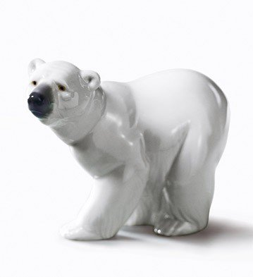Lladro Attentive Polar Bear Figurine