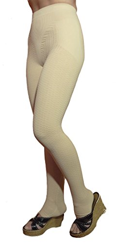 Lipedema, Lymphedema support slimming compression leggins (Kl1 18-21 mmHg) – (Nude, XL)
