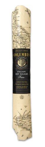 Columbus Salame Company Italian Dry Salame V2 Paper Wrap Salame Case of 5 - 3 Pound Sticks by Columbus Salame Company