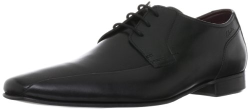 CLARKS Clarks Mens Shoe Chilton Lace Black Leather Black
