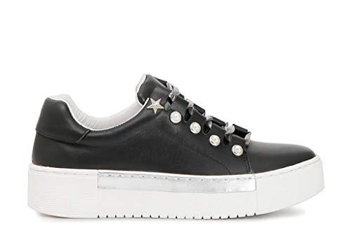 Aux À Idd126 Sneakers Lacets Cafè Noir Perles tQdshr
