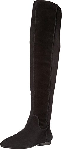 Lucky Brand Gavina Black Women's Suede Tall Over The Knee Round Toe Flat Boot (7.5)