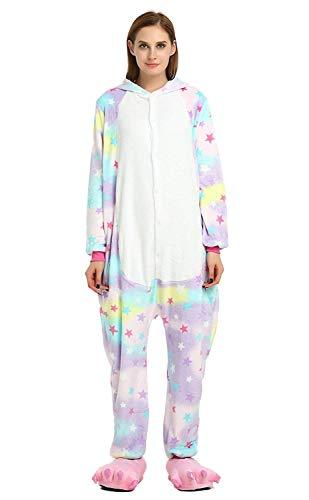 Women's Sleepwear Unisex-Adult Unicorn Onesie Cosplay Costume Animal Jumpsuit Christmas Costume (Small,Star) ()