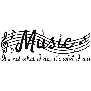 Cocobee It's Not What I Do It's Who I Am Music Home Vinyl Wall Decals Quotes Sayings Words Arts Decors Lettering Vinyl Wall Stickers, 38