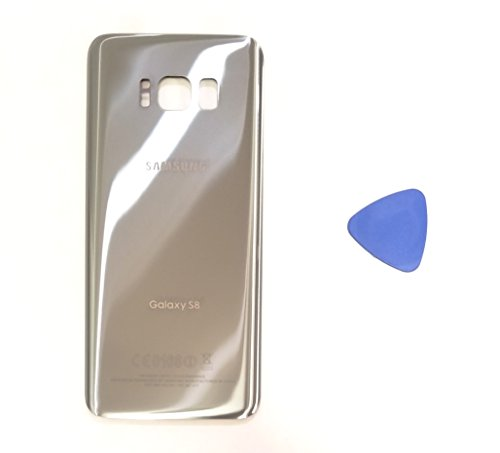 (md0410) Galaxy S8 Arctic Silver Rear Back Glass Lens Battery Door Housing Cover + Adhesive Replacement For G950 G950F G950A G950V G950P G950T with adhesive and opening tool