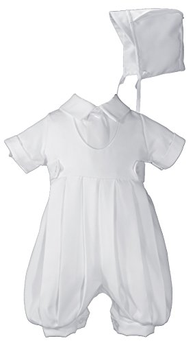 - Boys White Gabardine Christening Baptism Knicker Set - Size 12 Months