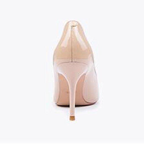 Parti 35 UK Nightclub Élégant De des Talons Femme 9cm Mode EU Cuir Sexy Travail Couleur en Mariage Chaussures Nude NudeColor Verni Hauts Tribunal Chaussures 3 Femmes ZqxxIwSH7g