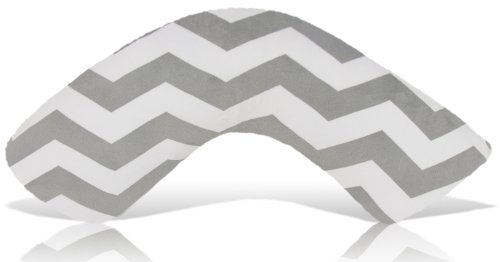 Luna Lullaby Bosom Baby Nursing Pillow, Chevron Grey