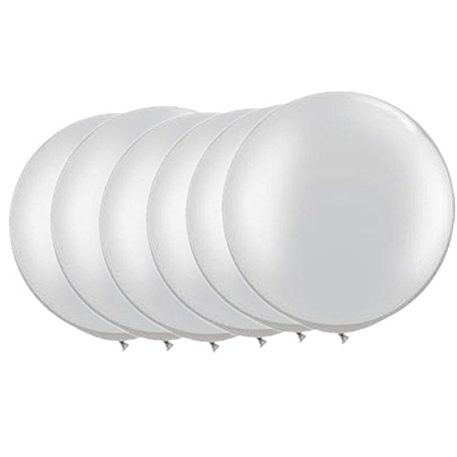 36 Inch Giant Latex Balloon Pearlescent White (Premium Helium Quality) Pkg/6 by OOOUSE