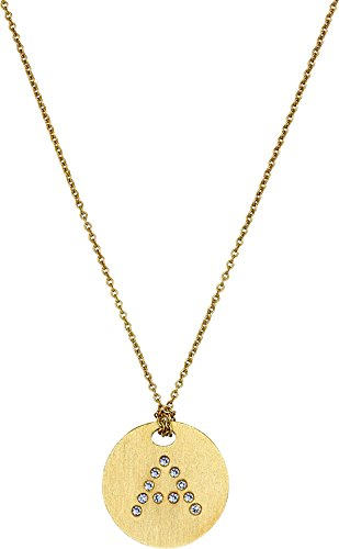 Roberto Coin Women's Tiny Treasures 18K Yellow Gold Initial A Pendant Necklace Yellow Gold One Size (Coin Necklace Roberto Diamond / 18k)