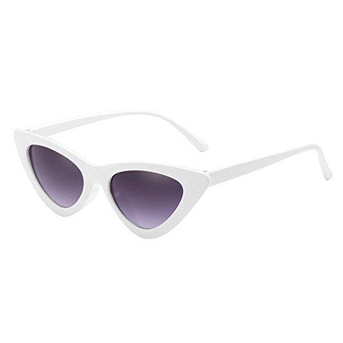 de sol ojo Gafas de de de gato de C11 Gafas de sol Highdas pequeña triángulo caja unisex transparente Gafas nuevas gWB45P7Sc